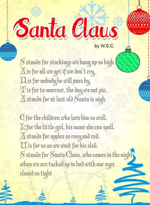 merry christmas poems 2018 short christmas poems for kids