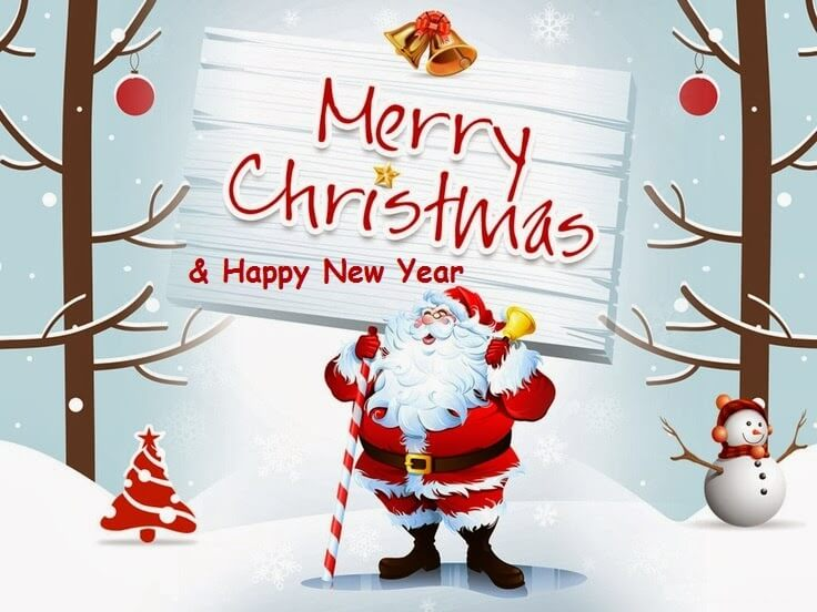 Merry Christmas Happy New Year Images